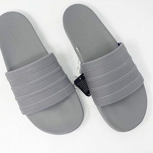 NIB Adidas Adilette Comfort Slides Gray Sz 10
